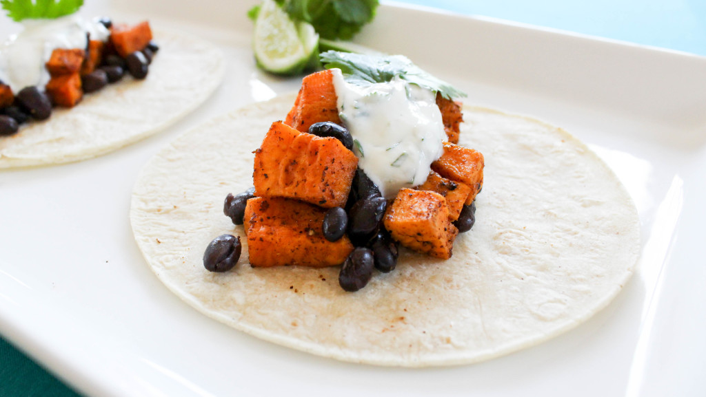 Chili Lime Sweet Potato Black Bean Tacos