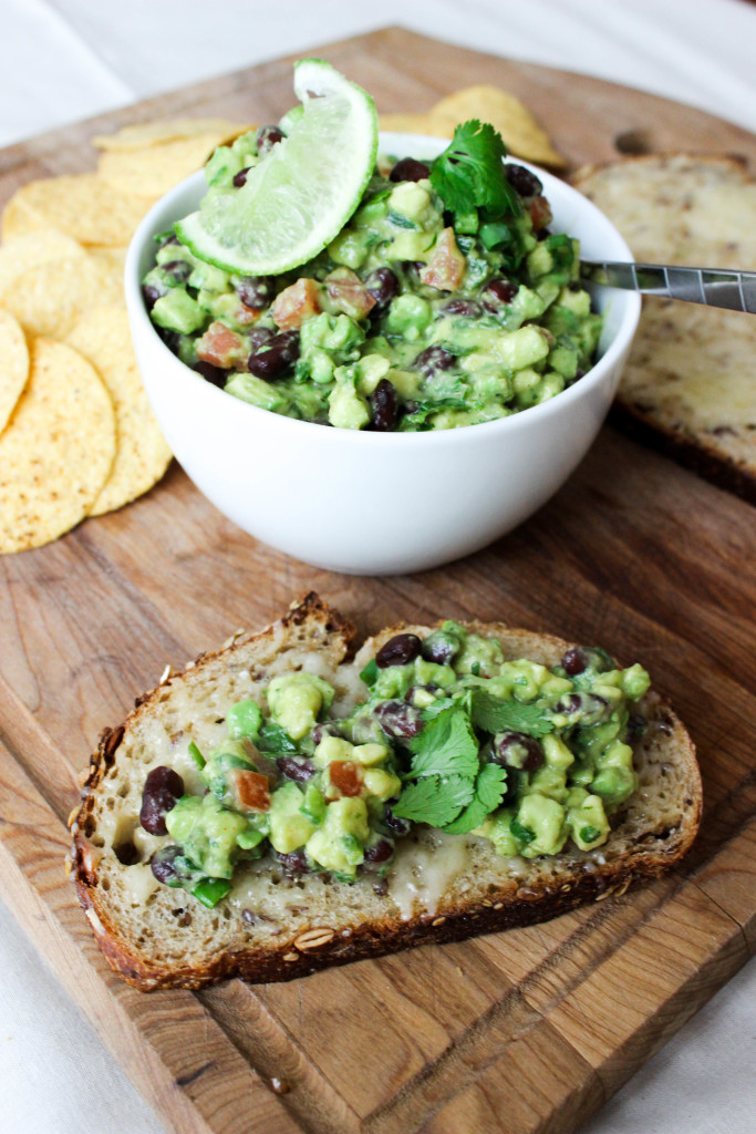 like spiced black bean and roasted jalapeno guac tostadas black bean ...