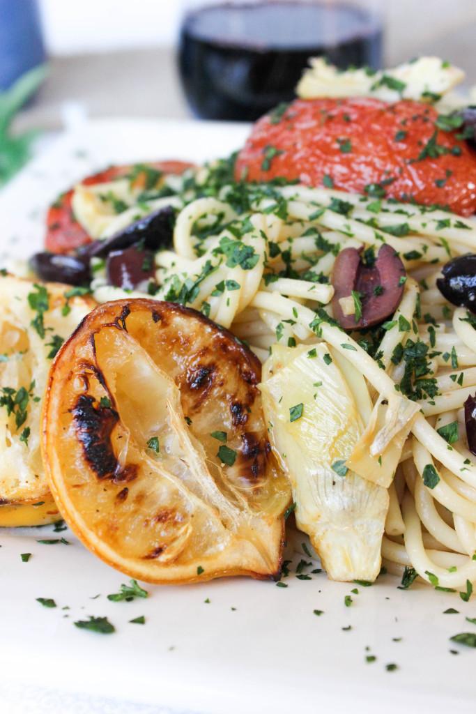 Roasted Tomato and Artichoke Pasta