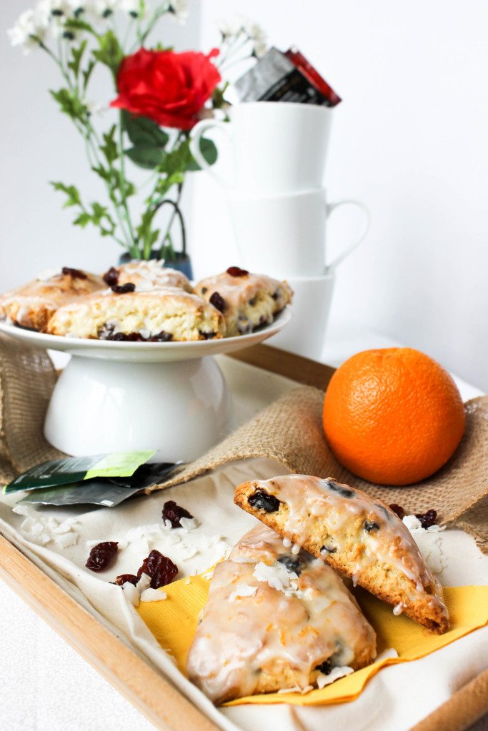 Cherry Coconut Scones