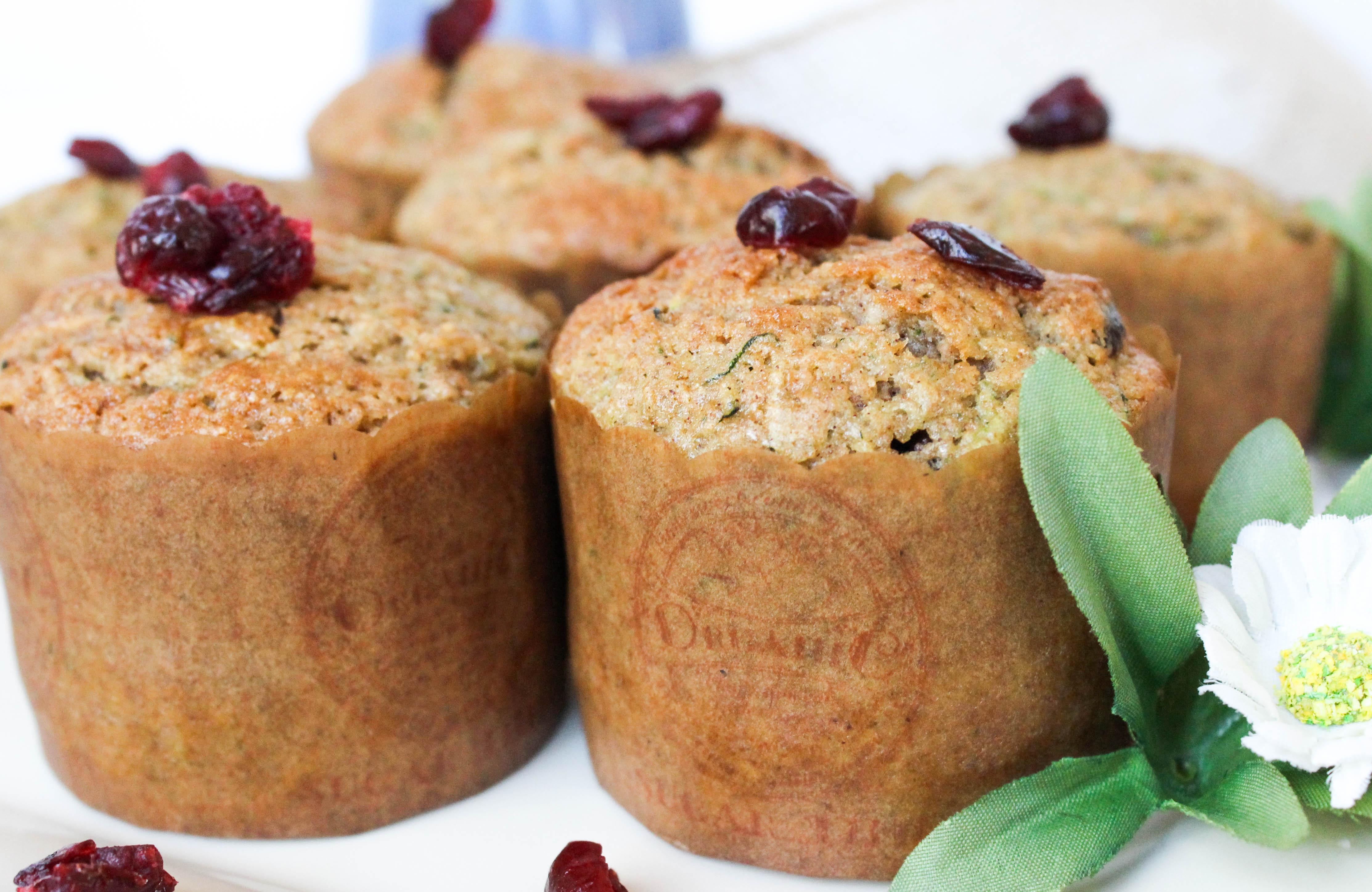 Zucchini Cranberry Muffins