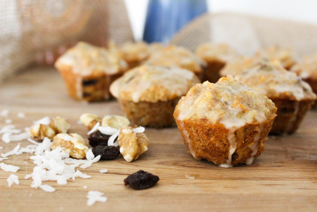 Loaded {mini} Carrot Cake Muffins