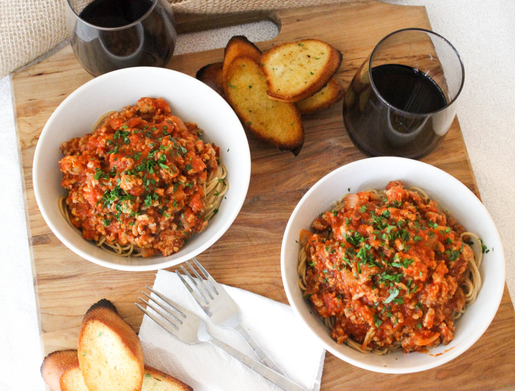 Spicy Turkey Bolognese