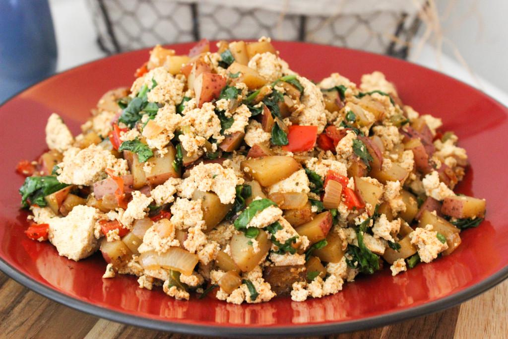 Tofu and Potato Breakfast Scramble
