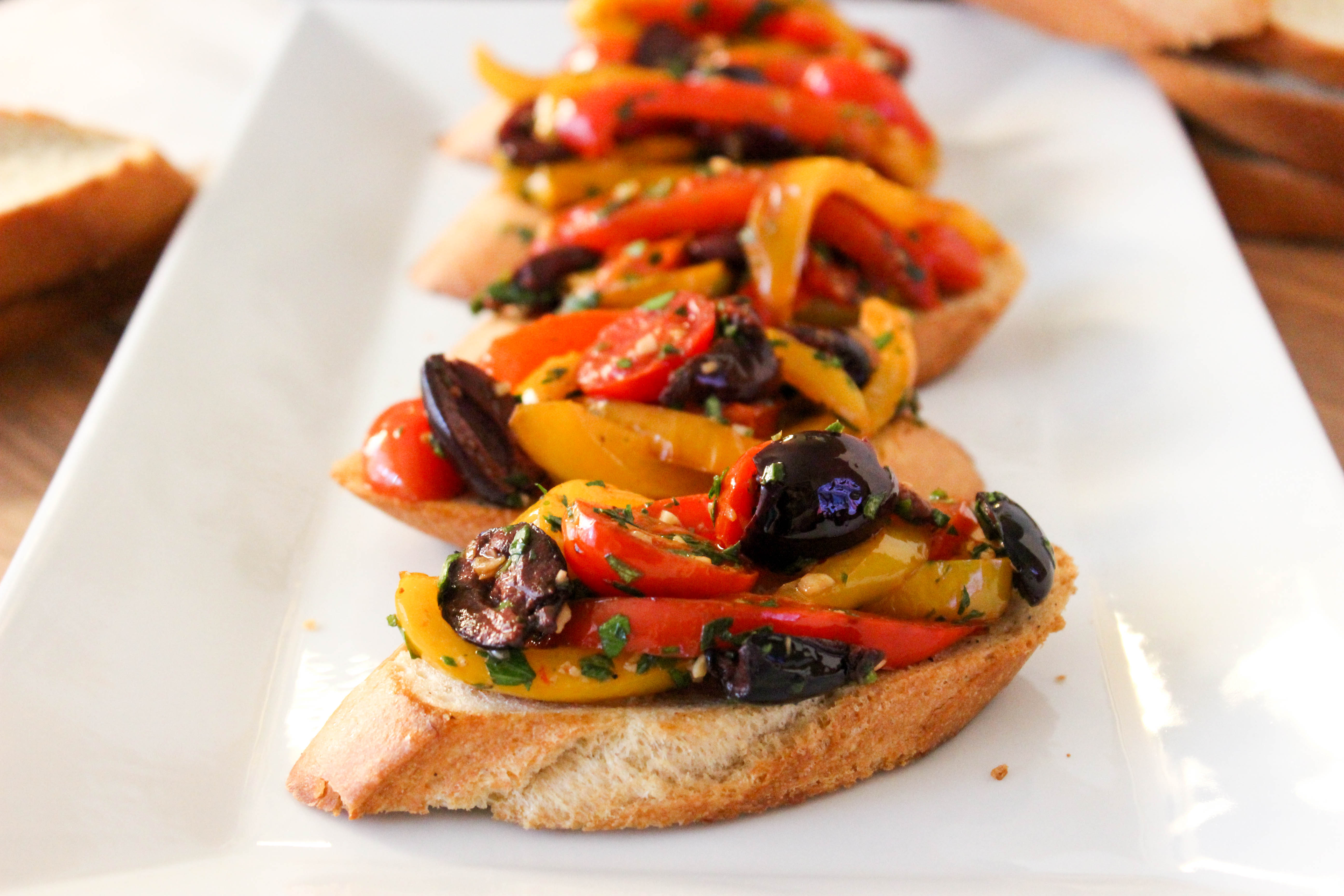 Bell Pepper Bruschetta