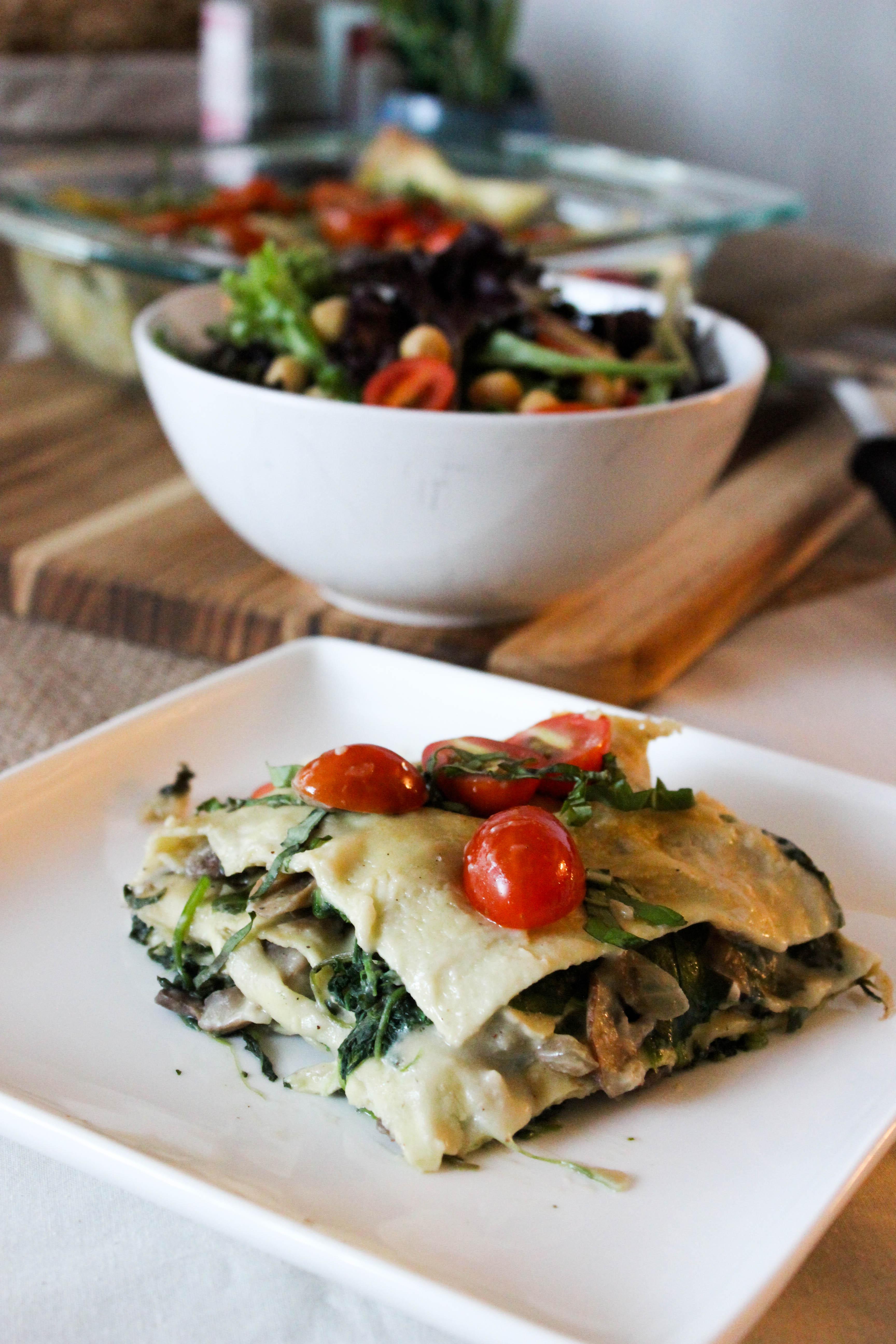 spinach and mushroom alfredo lasagna  good habits