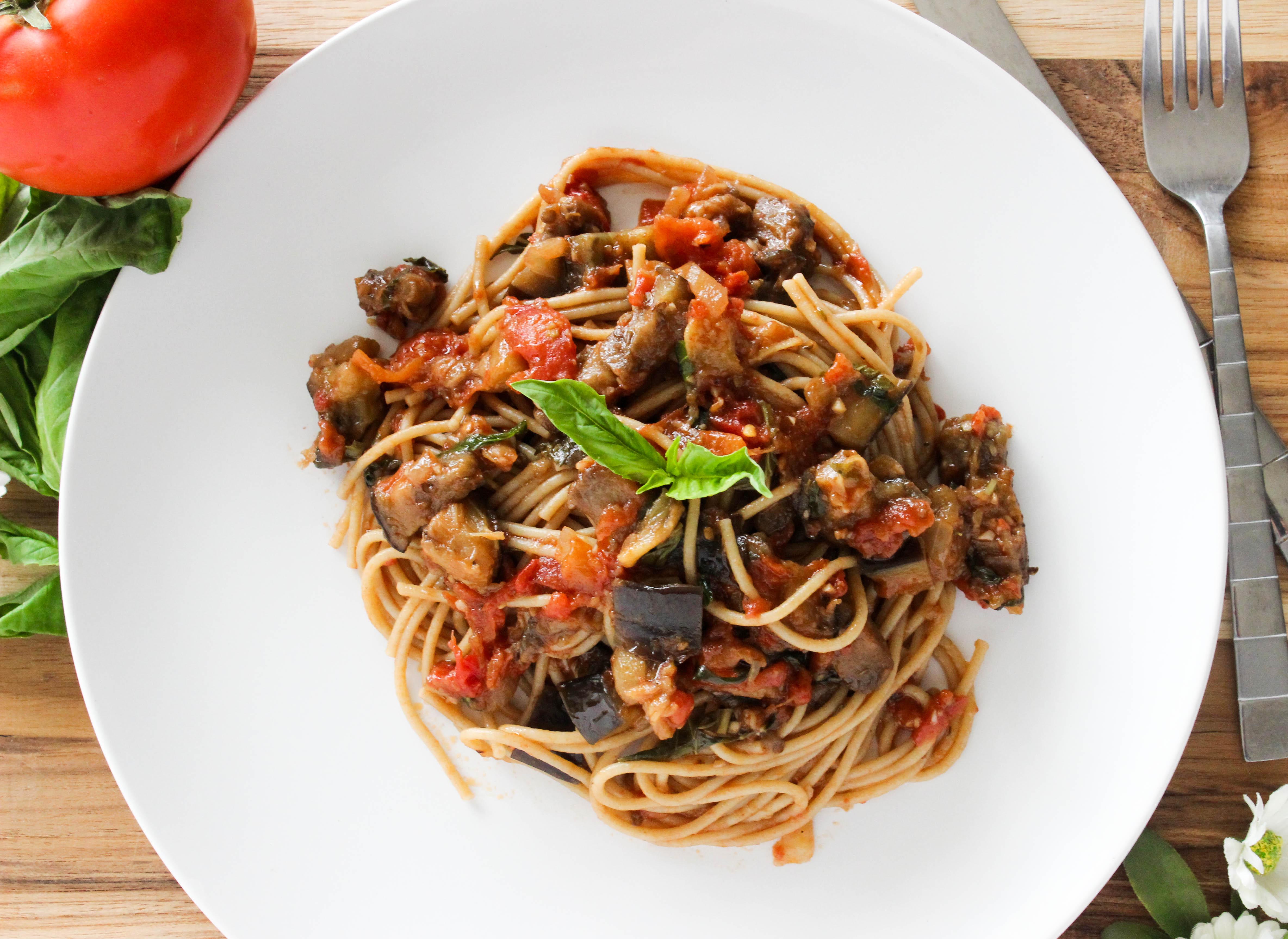 Pasta alla Norma – Eggplant Tomato Pasta