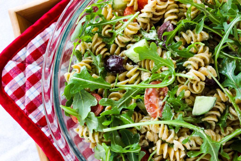 Creamy Arugula Pasta Salad