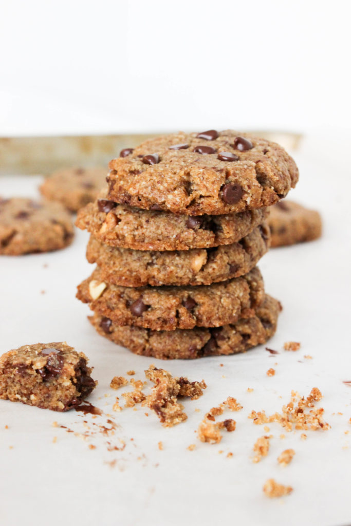 Almond Chocolate Chip Cookies {Gluten Free & Vegan}