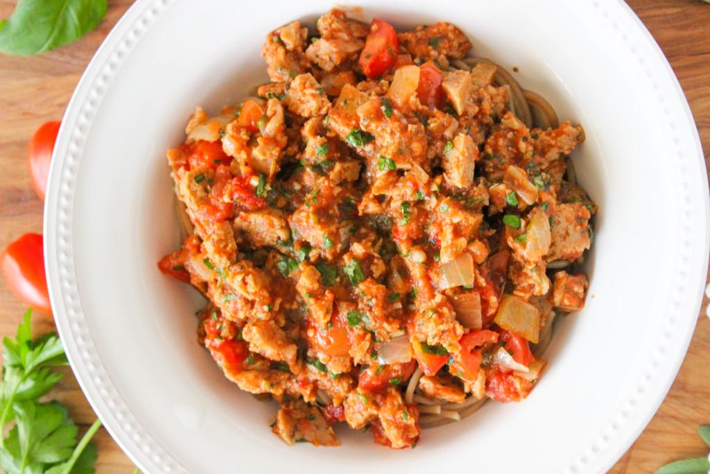 Field Roast Italian Sausage Pasta Sauce