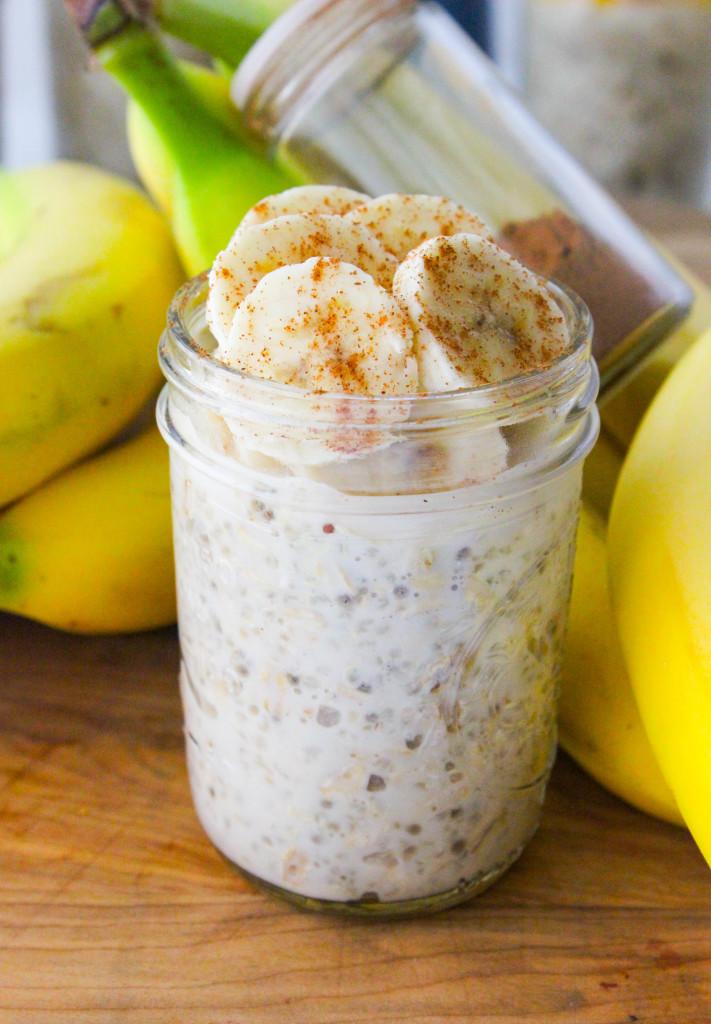 Overnight Quinoa Oatmeal - banana!