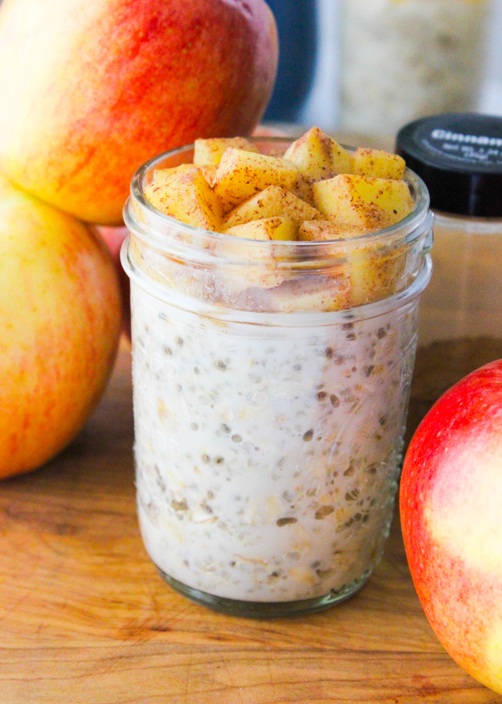Overnight Quinoa Oatmeal - Apple Cinnamon!