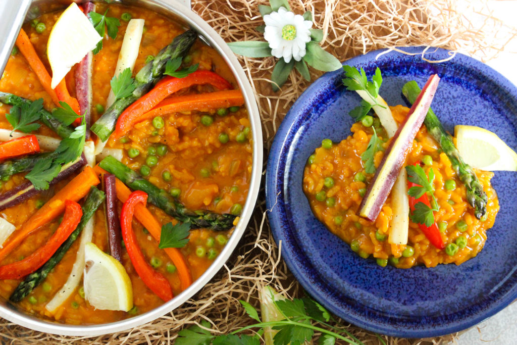 Easy Vegetable Paella Risotto