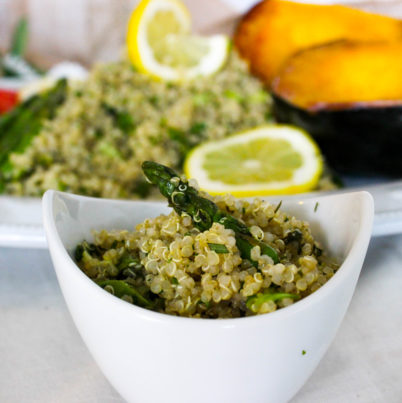 Herbed Quinoa with Asparagus
