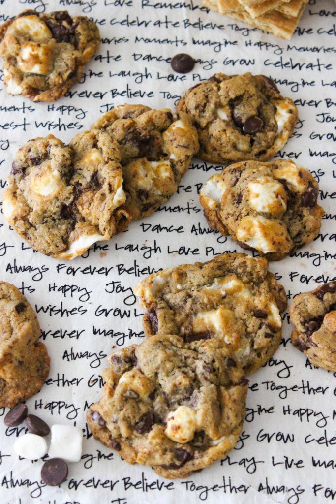 Easy Vegan S'mores Cookies! www.goodandguiltyvegan.com