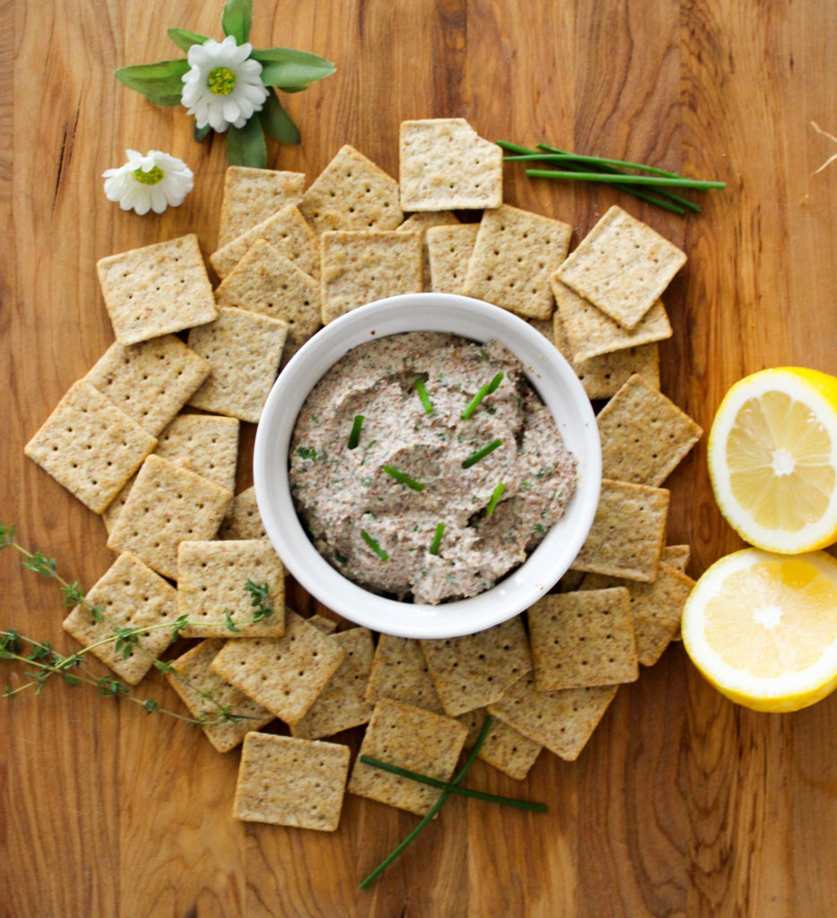 Herbed Almond Dip - quick and easy snack ideas www.goodandguiltyvegan.com