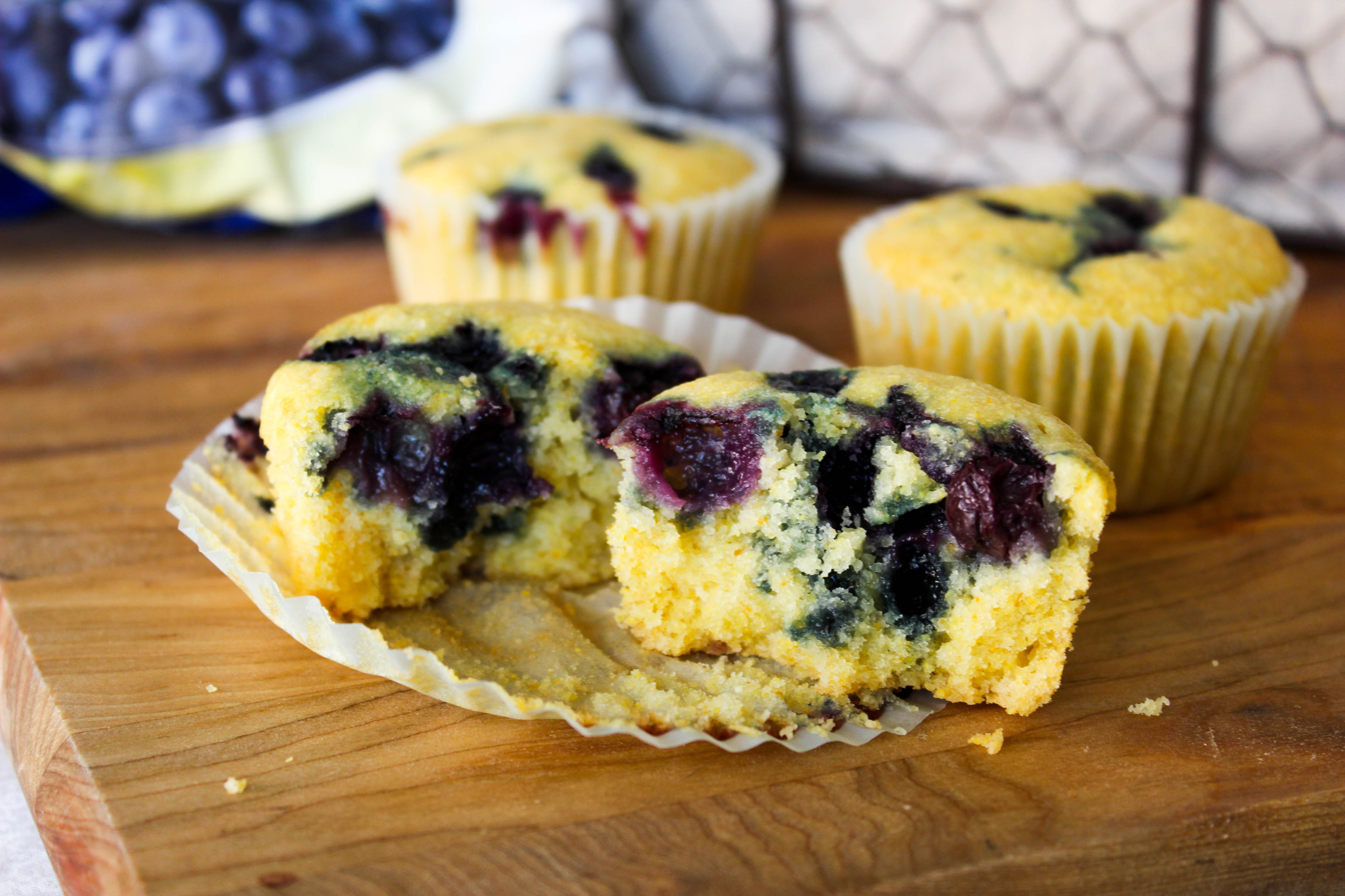 Blueberry Corn Muffins - Good Habits & Guilty ...