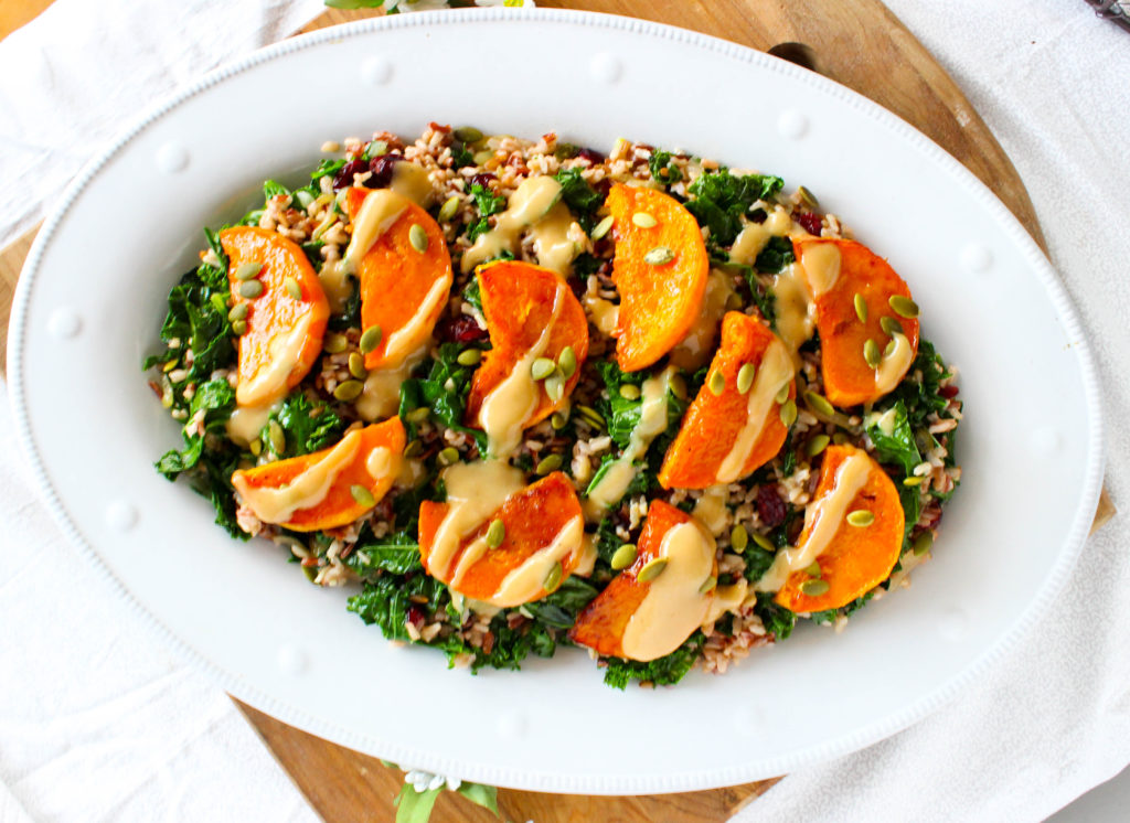 Warm Kale and Wild Rice Salad
