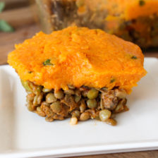 Sweet Potato and Sage Lentil Shepherds Pie