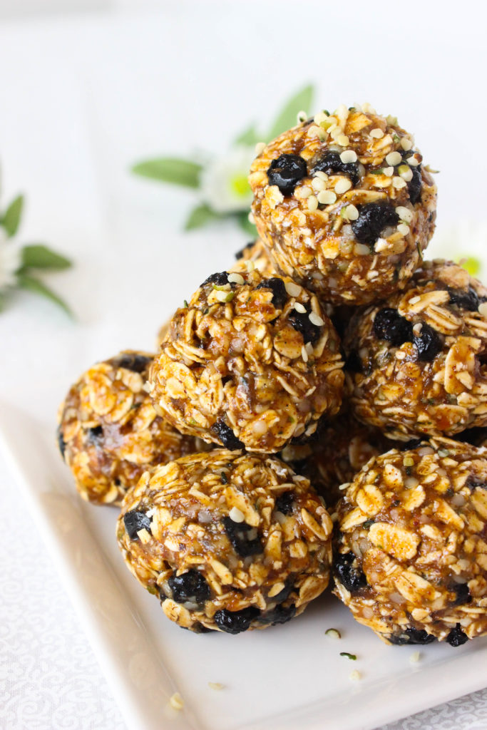 Blueberry Hemp Seed Bliss Balls