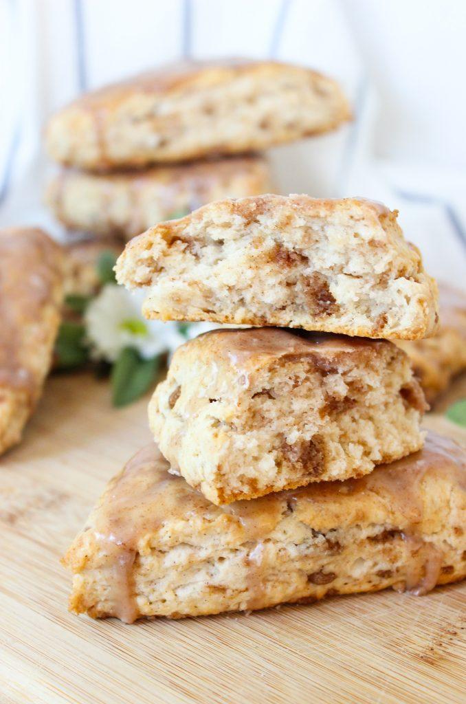 cinnamon cluster scones